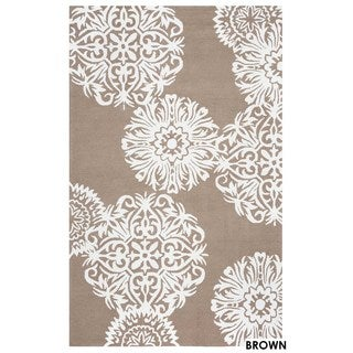 Rizzy Home Grey Azzura HIll Indoor/Outdoor Floral Accent Rug (2' x 3')