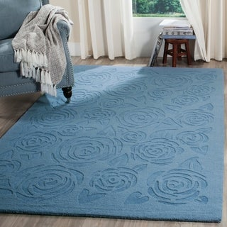 Safavieh Handmade Martha Stewart Collection Thistle Blue Wool Rug (9' x 12')