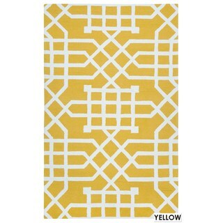 Rizzy Home Grey Azzura HIll Indoor/Outdoor Geometric Area Rug (9' x 12')