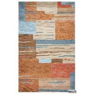 Rizzy Home Multi-color Leone Blocked Accent Rug (9 x 12)