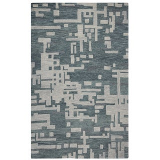 Rizzy Home Grey Leone Abstract Accent Rug (9 x 12)