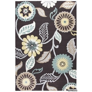 Rizzy Home Grey Azzura HIll Indoor/Outdoor Floral Area Rug (9' x 12')