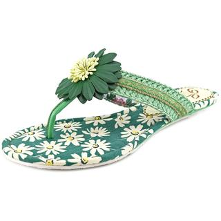 Poetic Licence Women's Oh Momma Green Low-heel Flip-flop Sandals
