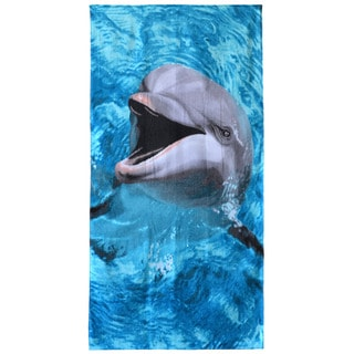 Laughing Dolphin Cotton 30-inch x 60-inch Beach Towel