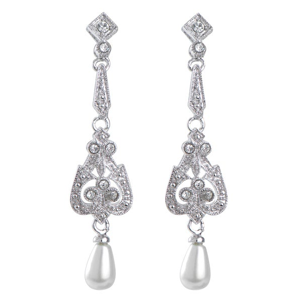 Pearl Art Deco Earrings