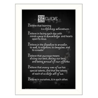 Bring a little life to your walls with this remarkable framed artwork 'Believe' Framed Art