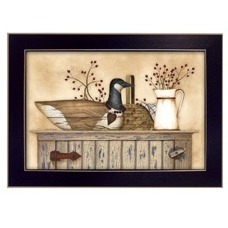 Linda Spivey 'Duck and Berry Still Life' Framed Art
