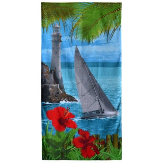 "Lighthouse Shore 30"" x 60"" Cotton Beach Towel"