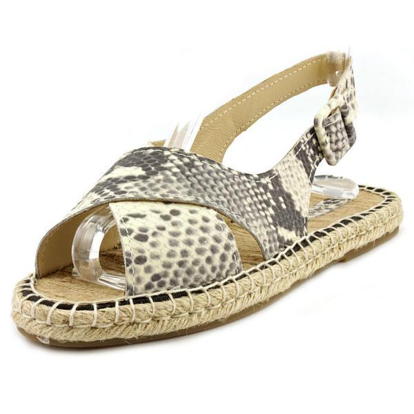 Pour La Victoire Women's Olivia Tan Leather Low-heel Sandals