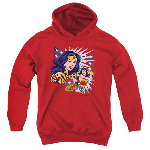 DCO/Pop Art Wonder Youth Pull-Over Hoodie in Red 18765374