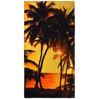 "Sunset Multicolored 30"" x 60"" Cotton Beach Towel"