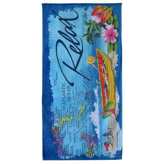 Tranquility Multicolored Cotton Beach Towel