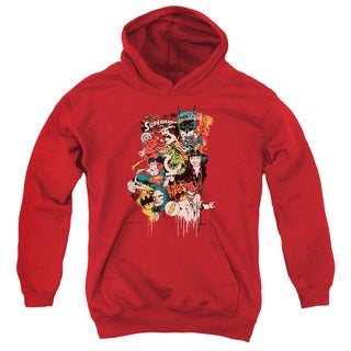 DC/Dripping Characters Youth Pull-Over Hoodie in Red
