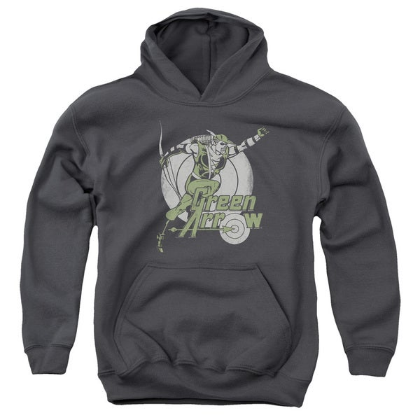DC/Right On Target Youth Pull-Over Hoodie in Charcoal