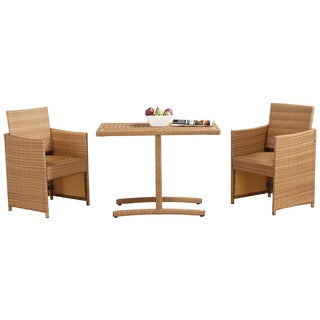 Glass-top Honeymoon Outdoor Dining Set
