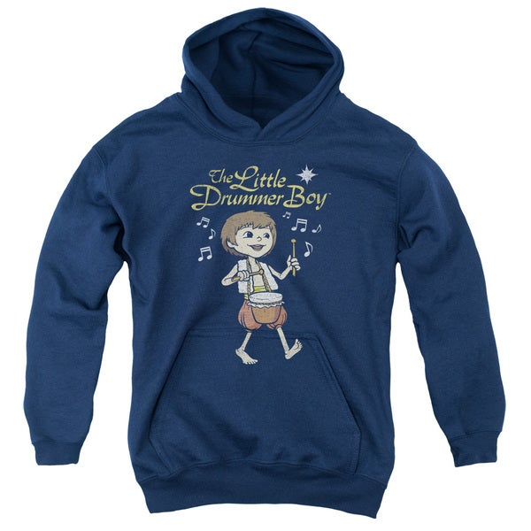Little Drummer Boy/Starlight Youth Pull-Over Hoodie in Navy