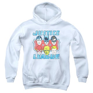 DC/Faces Of Justice Youth Pull-Over Hoodie in White