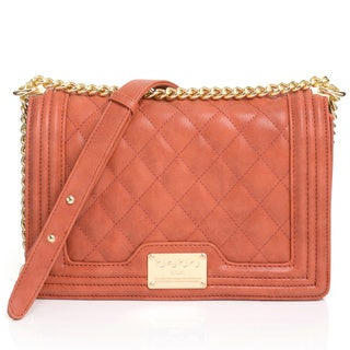 BEBE Willow Solid-colored Faux-leather Shoulder Bag