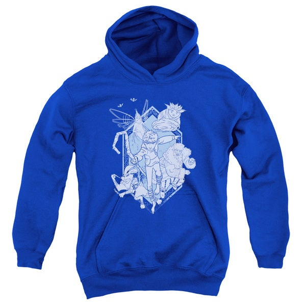 Rise Of The Guardians/Coming For You Youth Pull-Over Hoodie in Royal
