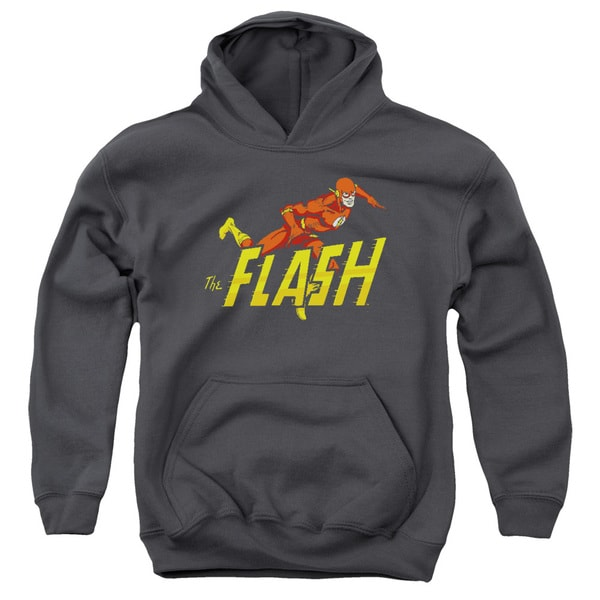 DC/ 8 Bit Flash Youth Pull-Over Hoodie in Black