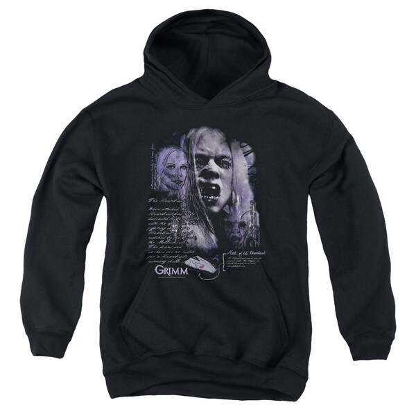 Grimm/Lady Hexenbeast Youth Pull-Over Hoodie in Black