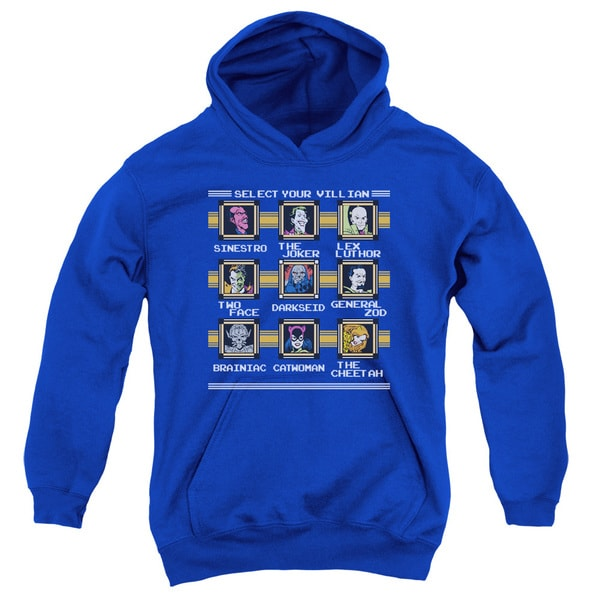 DC/Stage Select Youth Pull-Over Hoodie in Royal