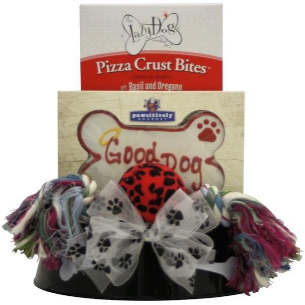 Happy Tails Pet Dog Gift Basket