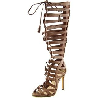 Vince Camuto Women's Olivian Brown Leather Sandals
