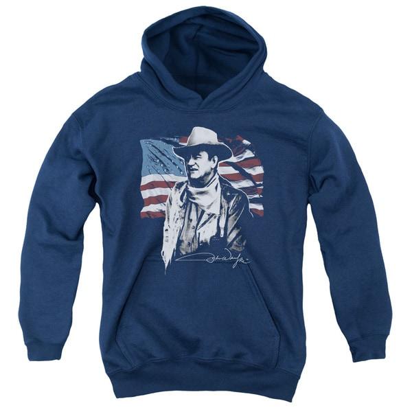 John Wayne/American Idol Youth Pull-Over Hoodie in Navy