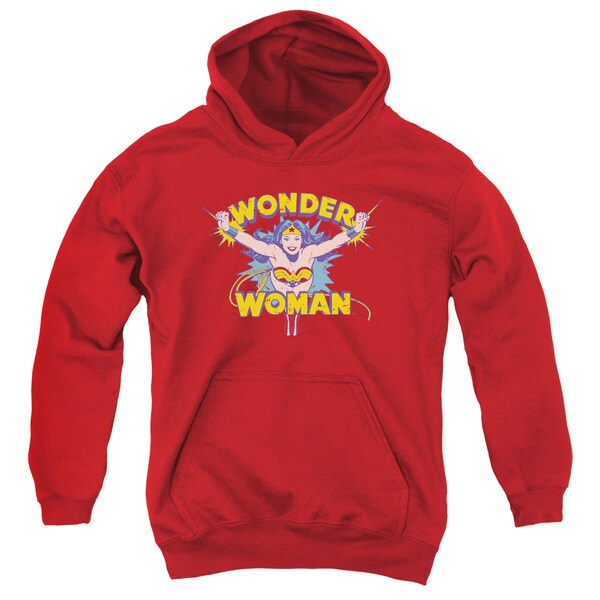 DC/Flying Through Youth Pull-Over Hoodie in Red