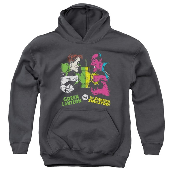 DC/Gl Vs Sinestro Youth Pull-Over Hoodie in Charcoal