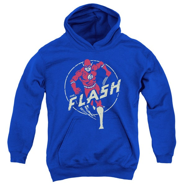 DC/Flash Comics Youth Pull-Over Hoodie in Royal