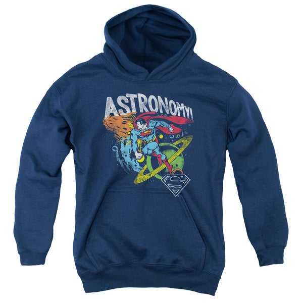 DC/Astronomy Youth Pull-Over Hoodie in Navy