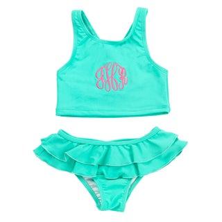 Kids' Mint Swimsuit Set