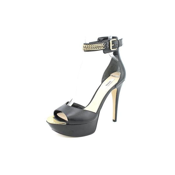 Guess Women's Ornica Black Leather Sandals