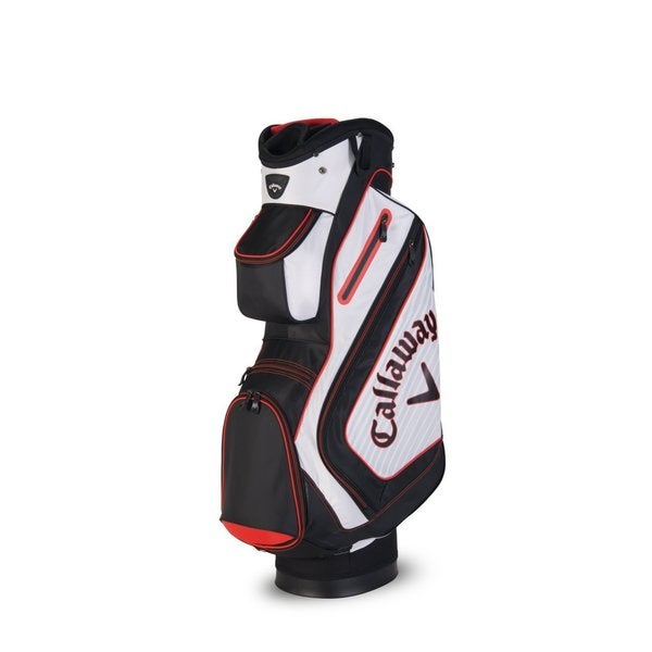 Callaway Chev Black and Grey Polyester 6-pocket Cart Bag