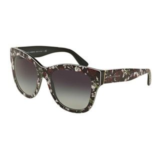 D&G Women's DG4270F 30198G Multi Plastic Square Sunglasses