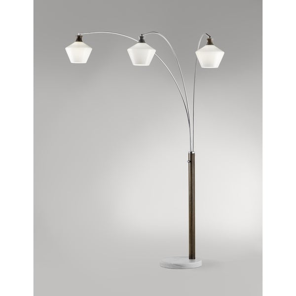Rumba Brushed Nickel Arc Lamp