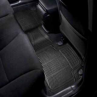 Zone Tech Black Rubber 18-inch x 2-inch x 12-inch Universal Car Vehicle Floor Mat