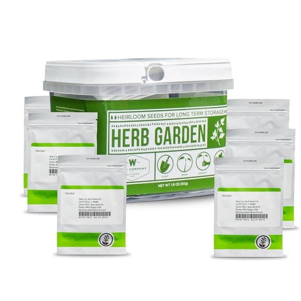 Wise Foods Herb Garden 5-inch x 5.5-inch x 5.5-inch Heirloom Seed Bucket