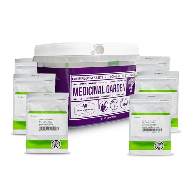 Wise Foods Medicinal Garden Heirloom Seed Bucket