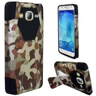 Insten Camouflage Hard PC/ Silicone Dual Layer Hybrid Case Cover with Stand For Samsung Galaxy J7 (2016)