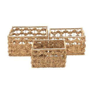 Multicolor Sea Grass Basket (Set Of 3)