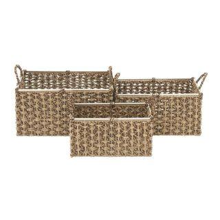 Assorted Sea Grass Baskets (Set Of 3)