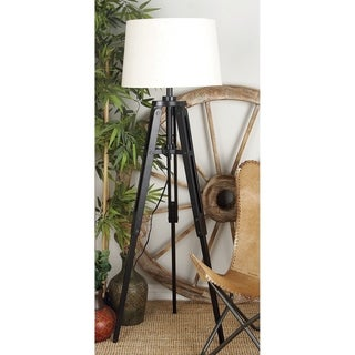 Industrial 62 x 20 Inch Wooden Tripod Floor Lamp by Studio 350