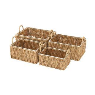 Assorted Sea Grass Baskets (Set of 4)