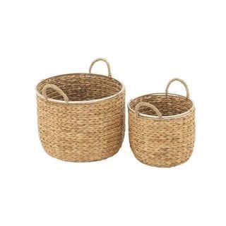 Multicolor Sea Grass Baskets (Set of 2)