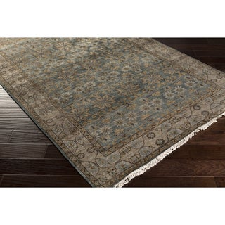Hand-Knotted Bingley Border Viscose Rug (5' x 8')