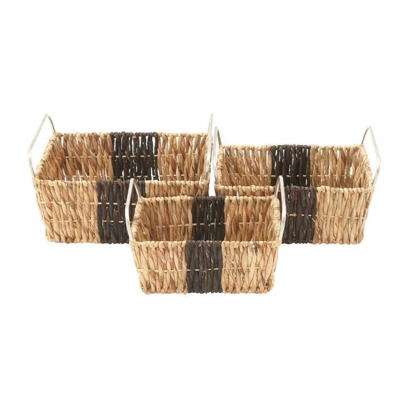 Brown Wood Sea Grass Baskets Pack Of  Free Shipping Today