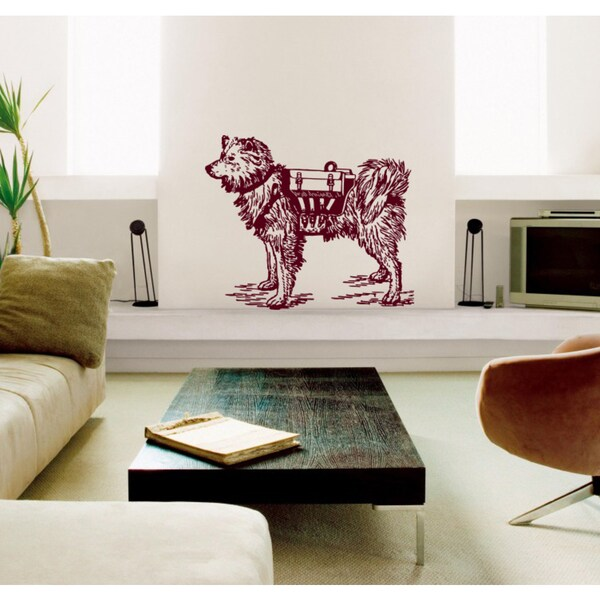 Dog rescuer Wall Art Sticker Decal Red